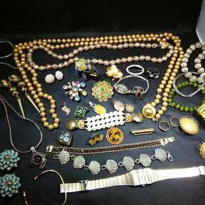 Vintage Jewelry lot art deco mid-century